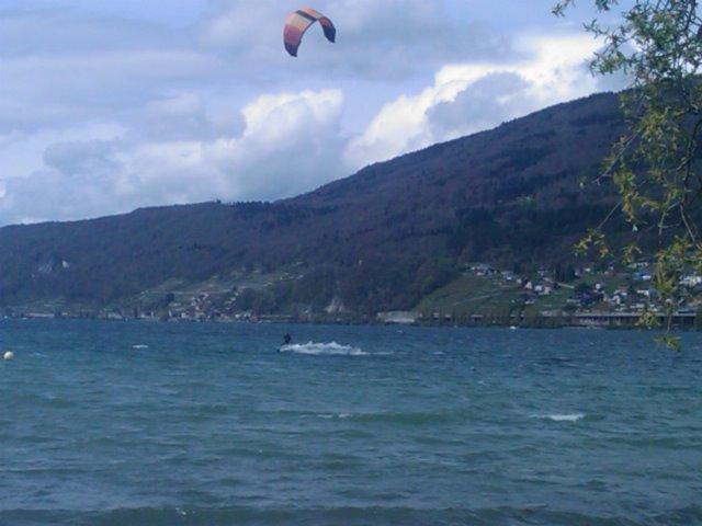 Kite-Surfer auf dem Bielersee